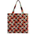 Modernist Geometric Tiles Zipper Grocery Tote Bag