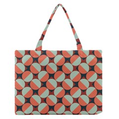 Modernist Geometric Tiles Medium Zipper Tote Bag by DanaeStudio