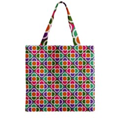 Modernist Floral Tiles Grocery Tote Bag by DanaeStudio