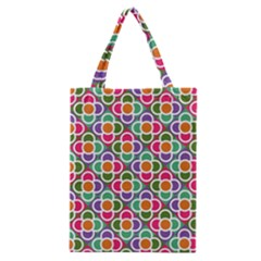 Modernist Floral Tiles Classic Tote Bag by DanaeStudio