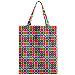 Modernist Floral Tiles Zipper Classic Tote Bag by DanaeStudio