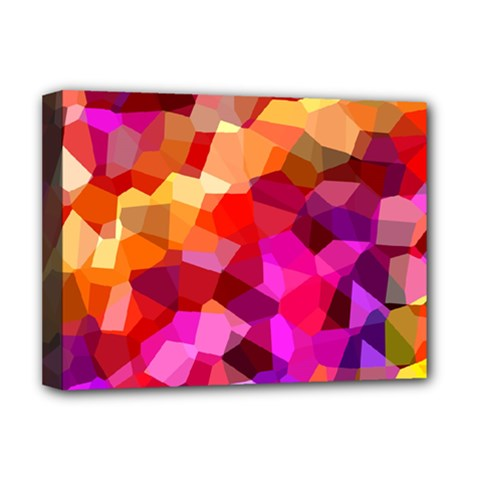 Geometric Fall Pattern Deluxe Canvas 16  X 12   by DanaeStudio