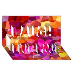 Geometric Fall Pattern Laugh Live Love 3d Greeting Card (8x4) by DanaeStudio