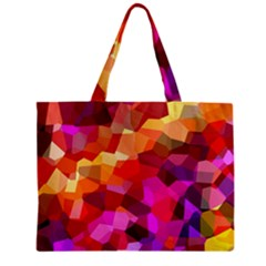 Geometric Fall Pattern Zipper Mini Tote Bag by DanaeStudio