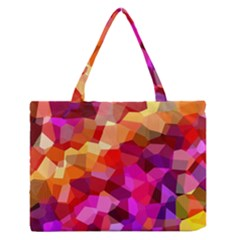Geometric Fall Pattern Medium Zipper Tote Bag by DanaeStudio