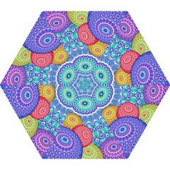 India Ornaments Mandala Balls Multicolored Mini Folding Umbrellas by EDDArt