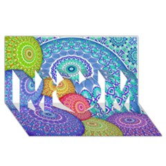 India Ornaments Mandala Balls Multicolored Mom 3d Greeting Card (8x4) by EDDArt