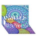 India Ornaments Mandala Balls Multicolored YOU ARE INVITED 3D Greeting Card (7x5)
