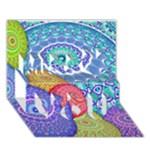 India Ornaments Mandala Balls Multicolored Miss You 3D Greeting Card (7x5)