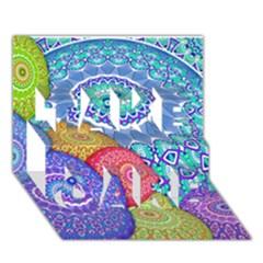India Ornaments Mandala Balls Multicolored Take Care 3d Greeting Card (7x5) by EDDArt
