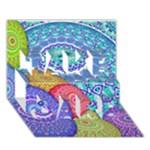 India Ornaments Mandala Balls Multicolored TAKE CARE 3D Greeting Card (7x5)