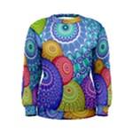 India Ornaments Mandala Balls Multicolored Women s Sweatshirt
