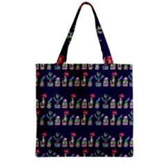 Cute Cactus Blossom Grocery Tote Bag by DanaeStudio
