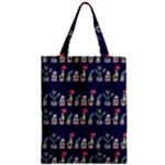 Cute Cactus Blossom Zipper Classic Tote Bag