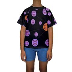 Alphabet Shirtjhjervbret (2)fvgbgnh Kids  Short Sleeve Swimwear by MRTACPANS