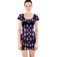 Alphabet Shirtjhjervbret (2)fvgbgnhllhn Short Sleeve Bodycon Dress by MRTACPANS
