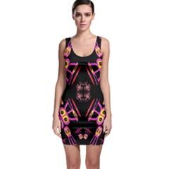 Alphabet Shirtjhjervbret (2)fv Sleeveless Bodycon Dress by MRTACPANS