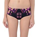 Alphabet Shirtjhjervbret (2)fv Mid-Waist Bikini Bottoms