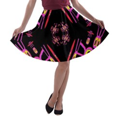 Alphabet Shirtjhjervbret (2)fv A Line Skater Skirt by MRTACPANS