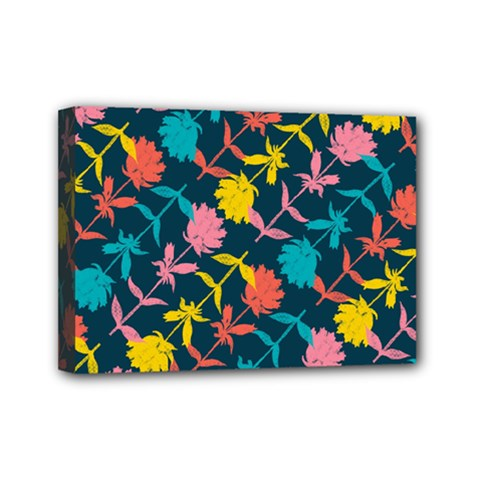 Colorful Floral Pattern Mini Canvas 7  X 5  by DanaeStudio