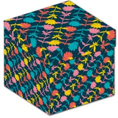 Colorful Floral Pattern Storage Stool 12   by DanaeStudio