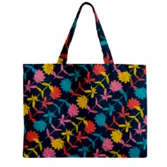 Colorful Floral Pattern Mini Tote Bag by DanaeStudio
