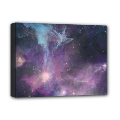 Blue Galaxy  Deluxe Canvas 16  X 12   by DanaeStudio