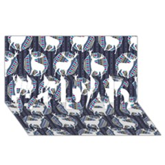 Geometric Deer Retro Pattern #1 Dad 3d Greeting Card (8x4) by DanaeStudio