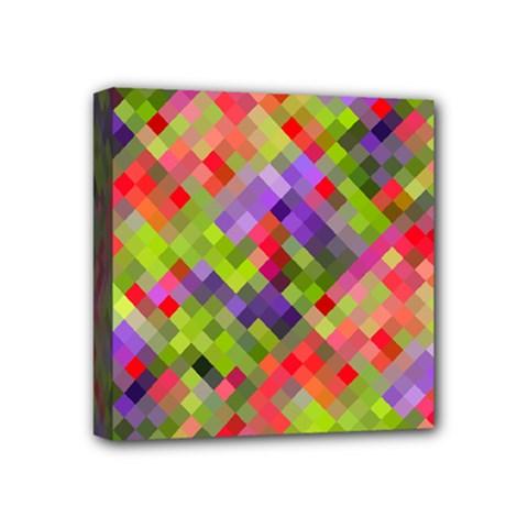 Colorful Mosaic Mini Canvas 4  X 4  by DanaeStudio