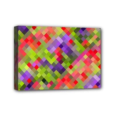 Colorful Mosaic Mini Canvas 7  X 5  by DanaeStudio