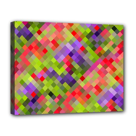 Colorful Mosaic Canvas 14  X 11  by DanaeStudio