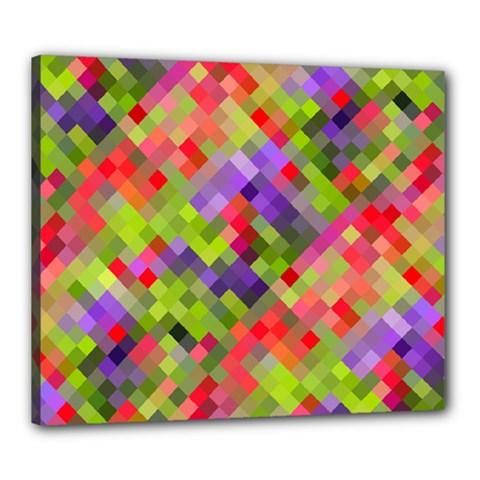 Colorful Mosaic Canvas 24  X 20  by DanaeStudio