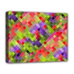 Colorful Mosaic Deluxe Canvas 20  x 16