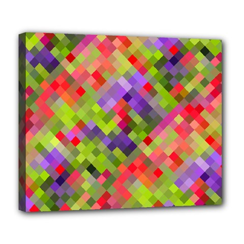 Colorful Mosaic Deluxe Canvas 24  X 20   by DanaeStudio
