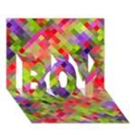 Colorful Mosaic BOY 3D Greeting Card (7x5)