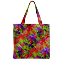 Colorful Mosaic Grocery Tote Bag by DanaeStudio