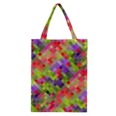 Colorful Mosaic Classic Tote Bag by DanaeStudio
