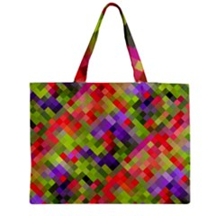 Colorful Mosaic Medium Zipper Tote Bag by DanaeStudio