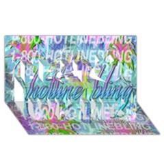Drake 1 800 Hotline Bling Best Wish 3d Greeting Card (8x4) by Onesevenart