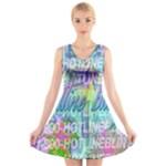 Drake 1 800 Hotline Bling V-Neck Sleeveless Skater Dress