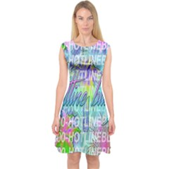 Drake 1 800 Hotline Bling Capsleeve Midi Dress by Onesevenart