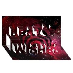 Bassnectar Galaxy Nebula Best Wish 3d Greeting Card (8x4) by Onesevenart