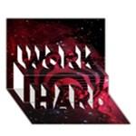 Bassnectar Galaxy Nebula WORK HARD 3D Greeting Card (7x5)