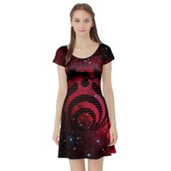 Bassnectar Galaxy Nebula Short Sleeve Skater Dress by Onesevenart