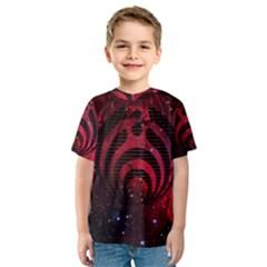 Bassnectar Galaxy Nebula Kids  Sport Mesh Tee by Onesevenart