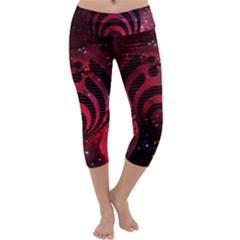 Bassnectar Galaxy Nebula Capri Yoga Leggings by Onesevenart