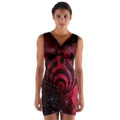 Bassnectar Galaxy Nebula Wrap Front Bodycon Dress by Onesevenart