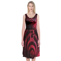 Bassnectar Galaxy Nebula Midi Sleeveless Dress by Onesevenart