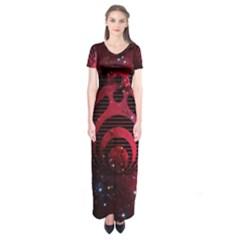 Bassnectar Galaxy Nebula Short Sleeve Maxi Dress by Onesevenart