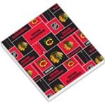 Chicago Blackhawks Nhl Block Fleece Fabric Small Memo Pads
